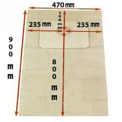 10er-Pack Staubsaugerbeutel - Papier - für EAGLE ISBA, RESIDENCE, MANOIR, PALACE - L 890 / B 450