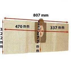 10er-Pack Staubsaugerbeutel - Papier - für EAGLE BASTIDE, COTTAGE, CHAUMIERE - L 300 / B 790