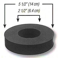 Schaumstoffdichtung - einseitig selbstklebend - Ø 140 / 64 x 32