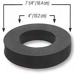 Schaumstoffdichtung - einseitig selbstklebend - Ø 180 / 100 x 30