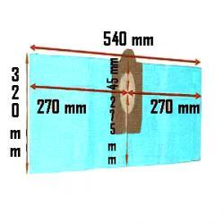 3er-Pack Staubsaugerbeutel - Papier - für DOMUS PLUS - L 320 / B 540