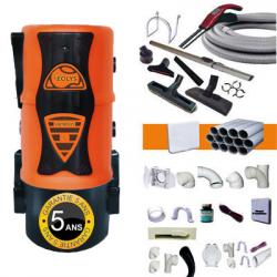 EOLYS 5 HYBRID - Zentralstaubsauger - elektronische Saugkraftregulierung am Handgriff - 5 JAHRE GARANTIE + Schlauch mit elektronischem SaugkraftregulierungsKit 9m + 8xZubehör + 3WandsaugdosenSet + SockeleinkehrdüsenKit + AufputzdosenKit (bis zu 180m²)