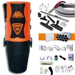 EOLYS 6 HYBRID - Zentralstaubsauger - elektronische Saugkraftregulierung am Handgriff - 5 JAHRE GARANTIE + Schlauch mit elektronischem SaugkraftregulierungsKit 9m + 8xZubehör + 3WandsaugdosenKit + SockeleinkehrdüseKit + AufputzsaugdoseKit - (bis zu 250m²)