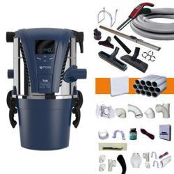 Zentralstaubsauger Aertecnica TX1A- bis zu 250m² - 3 Jahre Garantie + 9m elektronische Saugkraftregulierung am Handgriff + 3 Wandsaugdosen Set