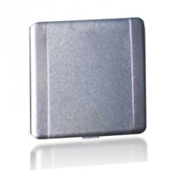 Europa - quadratische Saugdose - silberfarben - L 90 / B 90