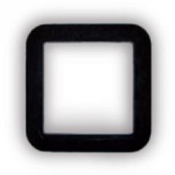 Europa - Deckrahmen für Saugdose - schwarz - L 115 / B 115