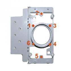 rechteckiger PVC-Montagerahmen - 6 Befestigungspunkte