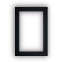Deckrahmen für rechteckige Saugdose mit rundem Deckel - schwarz - L 150 / B 105