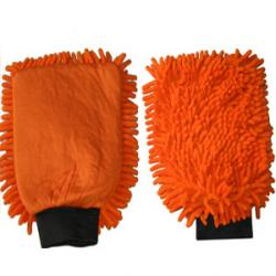 Mikrofaser-Handschuh Orange 2 in 1