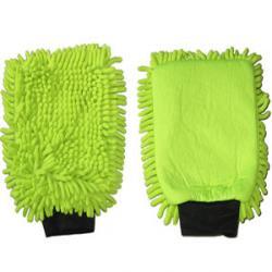 Mikrofaser-Handschuh Grün 2 in 1