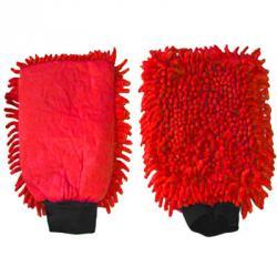 Mikrofaser-Handschuh Rot 2 in 1